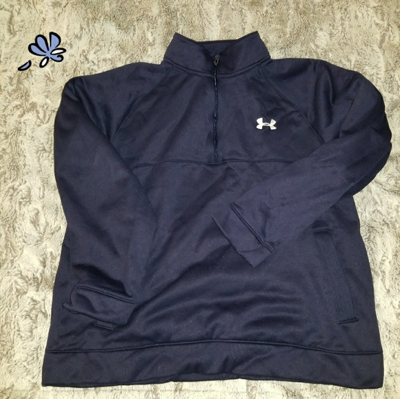 9d56023c2 Under Armour Other | Mens Large 14 Pullover Zip Navy Blue | Poshmark